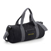 Begura Black Grey Barrel Bag - BEGURA