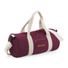 Begura Burgundy White Barrel Bag - BEGURA