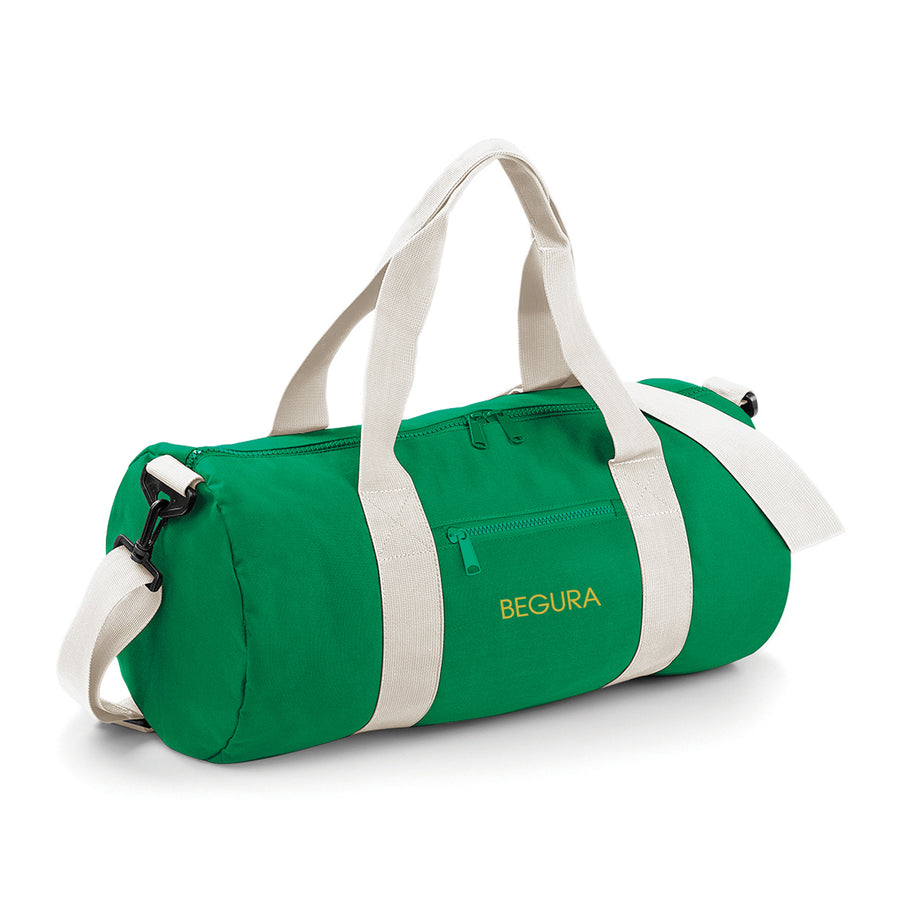 Begura Green White Barrel Bag - BEGURA