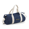 Begura Navy White Barrel Bag - BEGURA