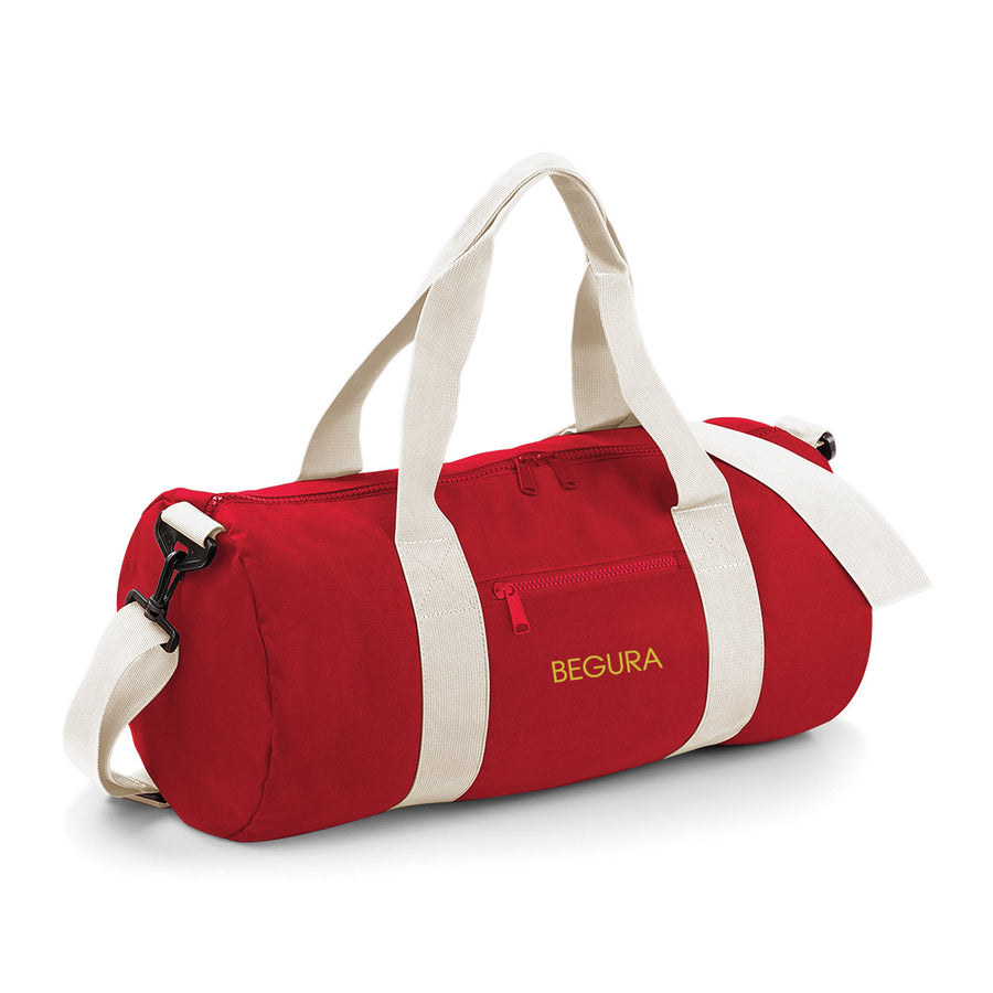 Begura Red White Barrel Bag - BEGURA