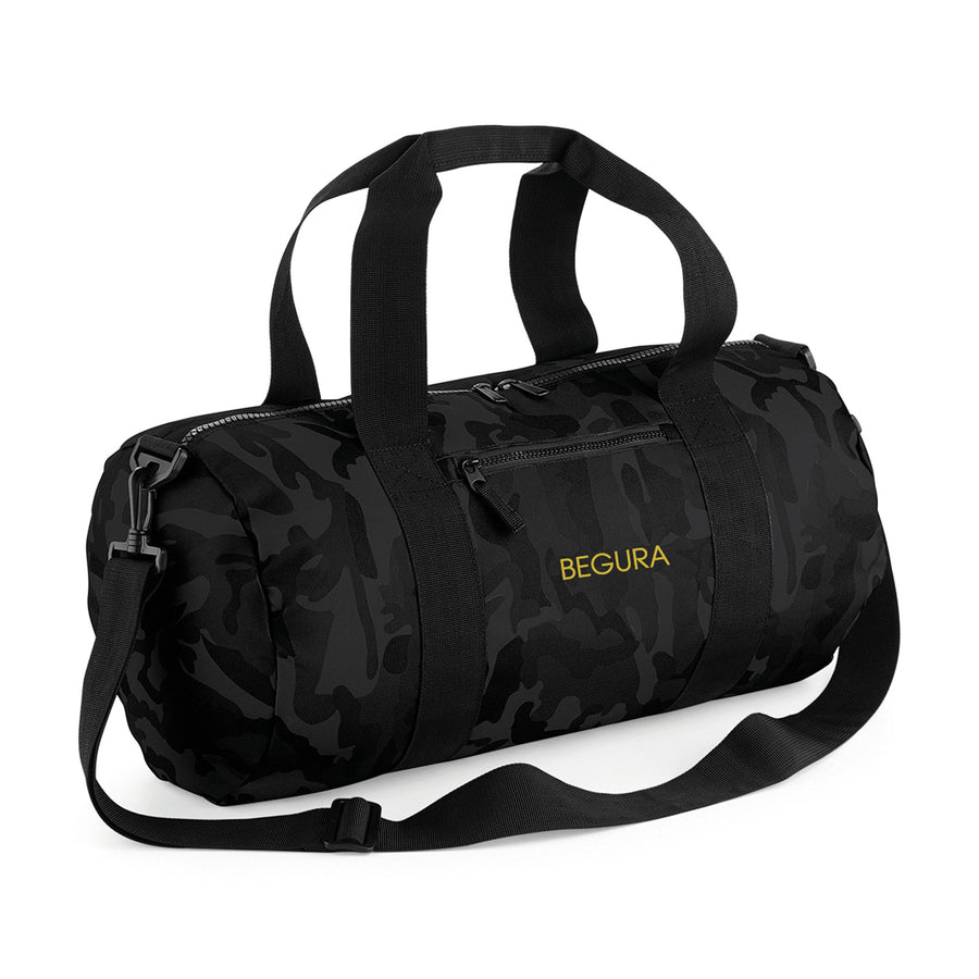 Begura Black Camo Barrel Bag - BEGURA