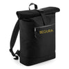 Begura Black Roll-Top Backpack - BEGURA