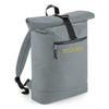 Begura Grey Roll-Top Backpack - BEGURA