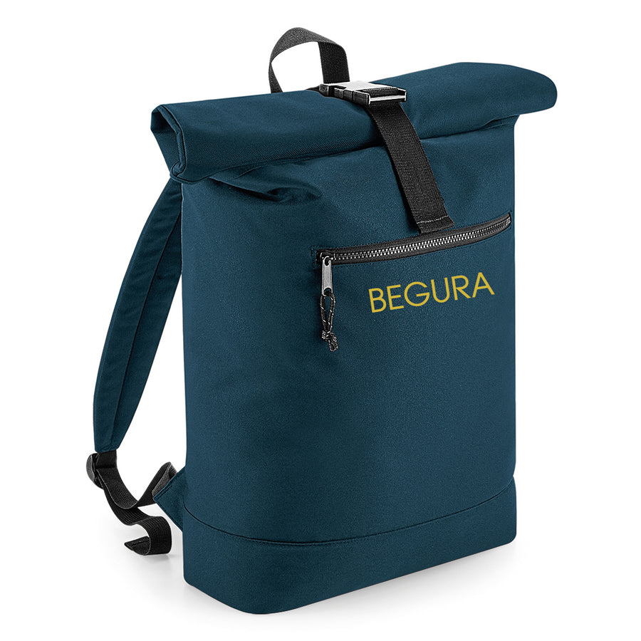 Begura Navy Roll-Top Backpack - BEGURA