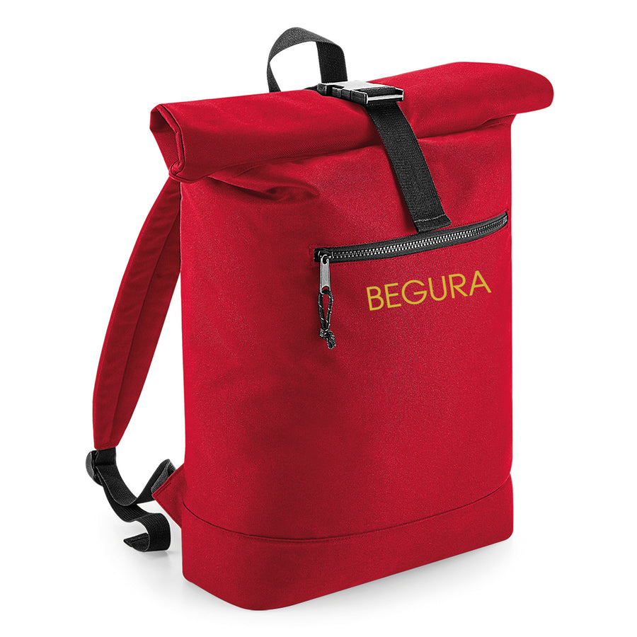 Begura Red Roll-Top Backpack - BEGURA