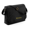 Begura Black Cotton Canvas Messenger - BEGURA