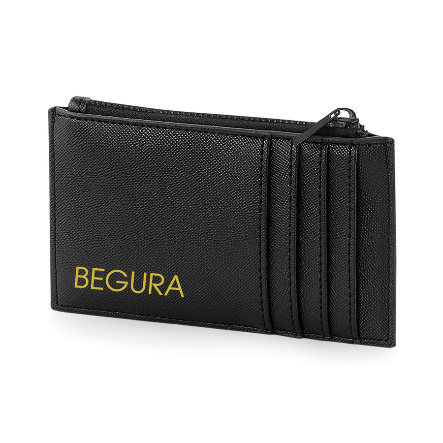 Begura Unisex Black on Black Leather Look Wallet - BEGURA