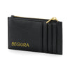 Begura Unisex Gold on Black Leather Look Wallet - BEGURA