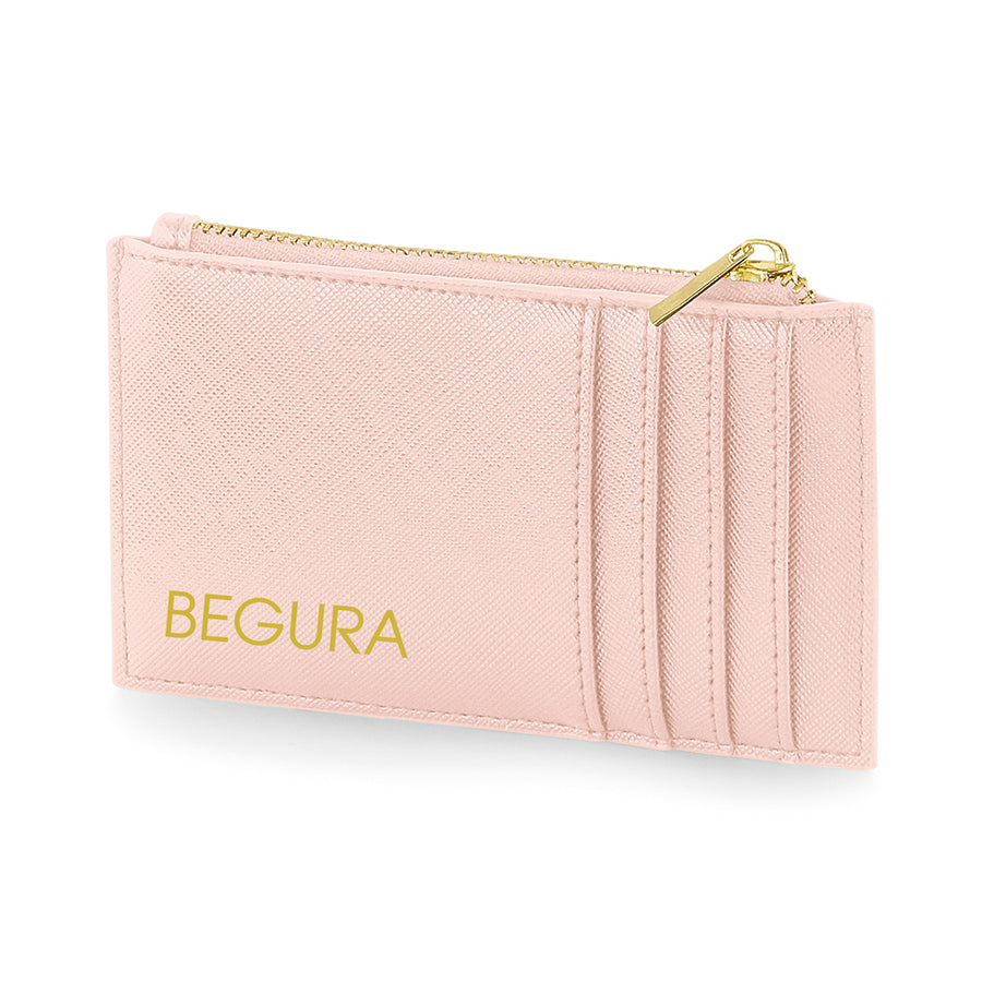 Begura Unisex Pink Leather Look Wallet - BEGURA