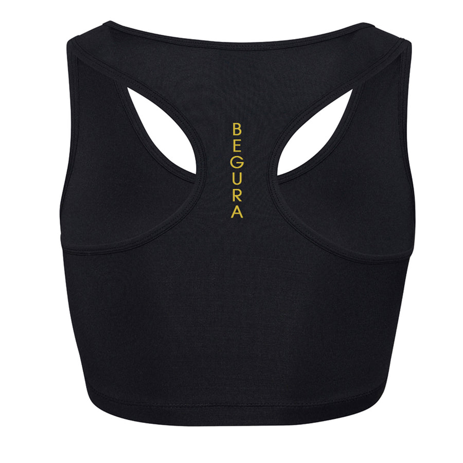 Sports Black Crop Top - BEGURA