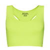Sports Electric Yellow Crop Top - BEGURA