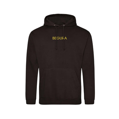 Begura Jet Black Men Hoodie - BEGURA