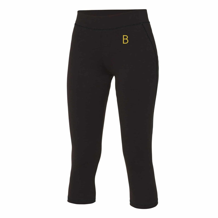 Female Cropped Black Leggings - BEGURA