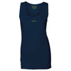Female Cotton Navy Vest Top - BEGURA