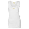 Female Cotton White Vest Top - BEGURA