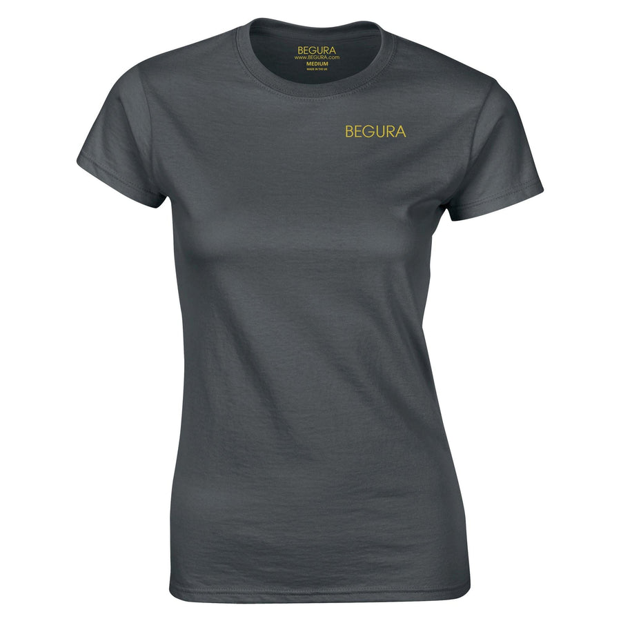 Begura Charcoal Ladies Fitted T-Shirt - BEGURA