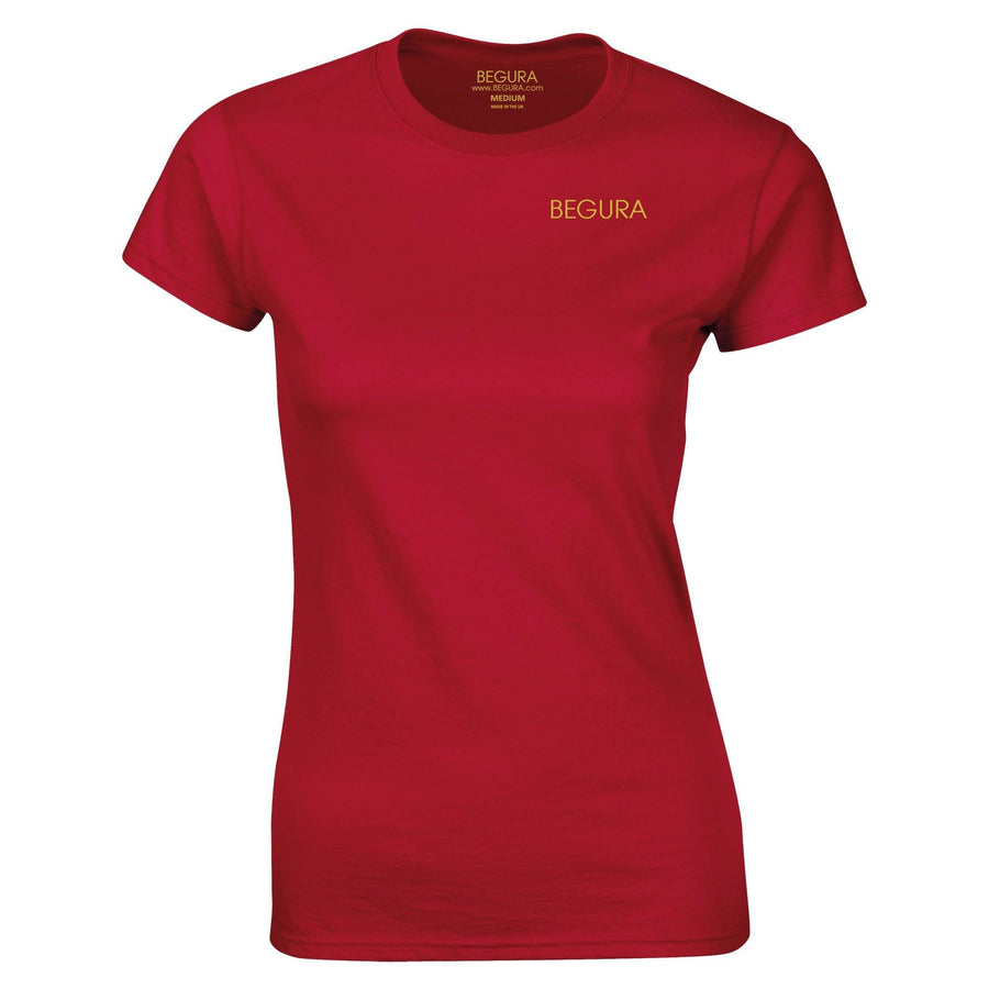 Begura Cherry Red Ladies Fitted T-Shirt - BEGURA