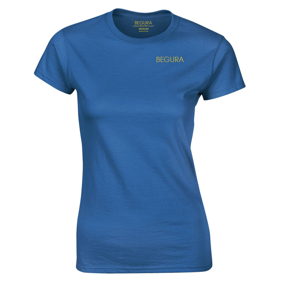 Begura Blue Ladies Fitted T-Shirt - BEGURA