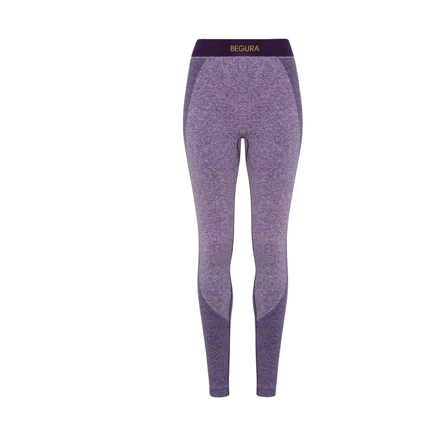 Female Seamless 3D Fit Multi Sport Purple Leggings - BEGURA