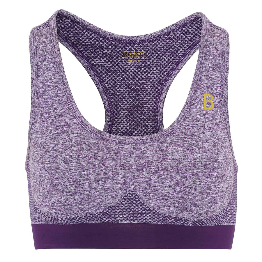 Female Seamless 3D Fit Multi Purple Sports Bra - BEGURA