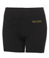 Female Training Black Shorts - BEGURA