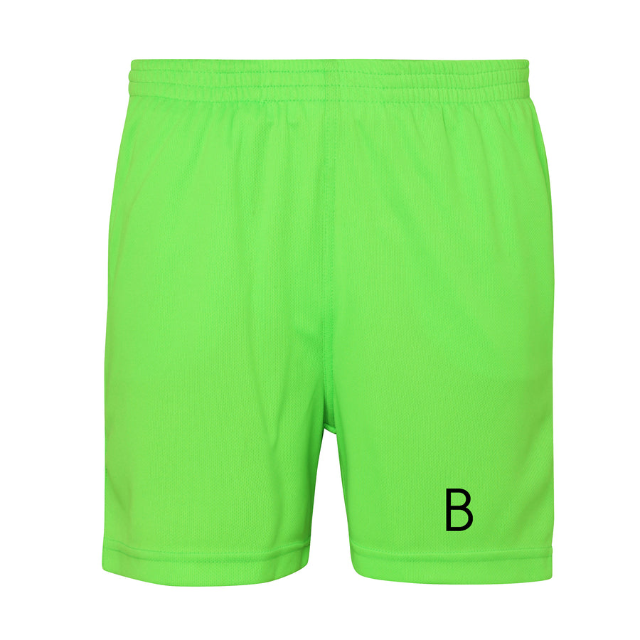 Kids Electric Green Sport Shorts - BEGURA