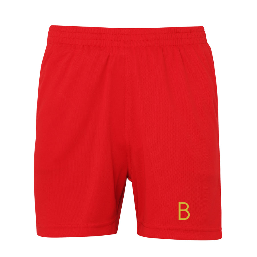 Kids Red Sport Shorts - BEGURA
