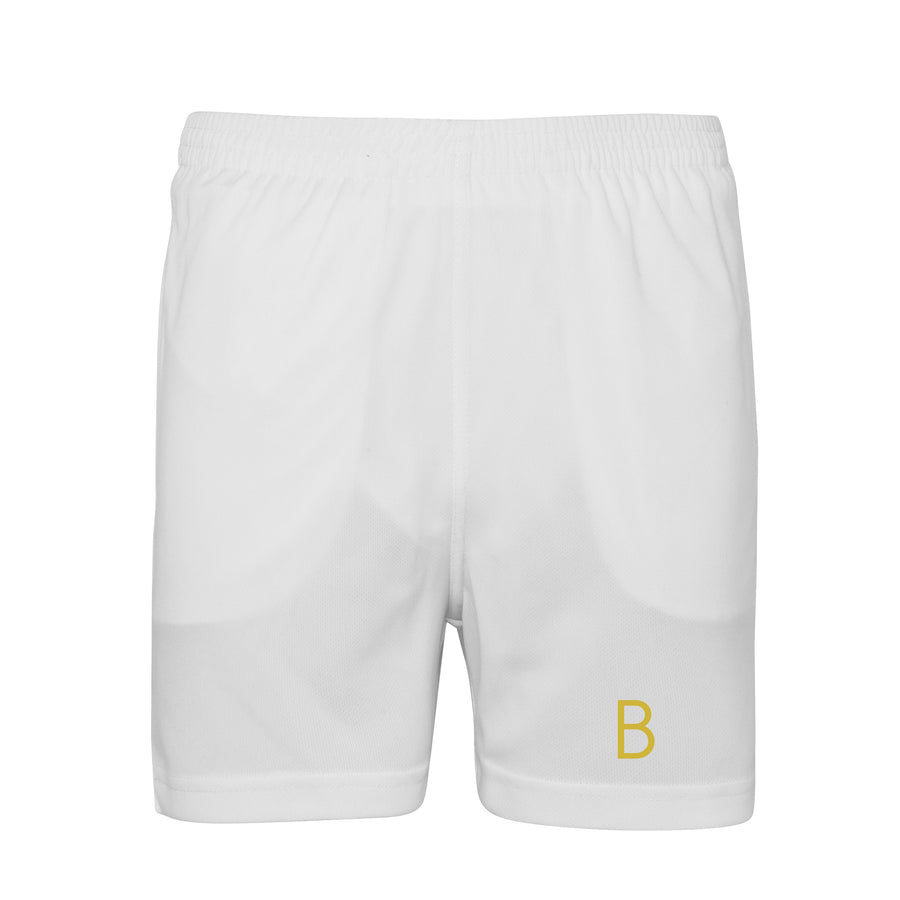 Kids White Sport Shorts - BEGURA