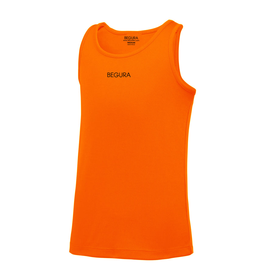 Kids Performance Electric Orange Vest Top - BEGURA