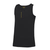 Kids Performance Vertical Black Vest Top - BEGURA