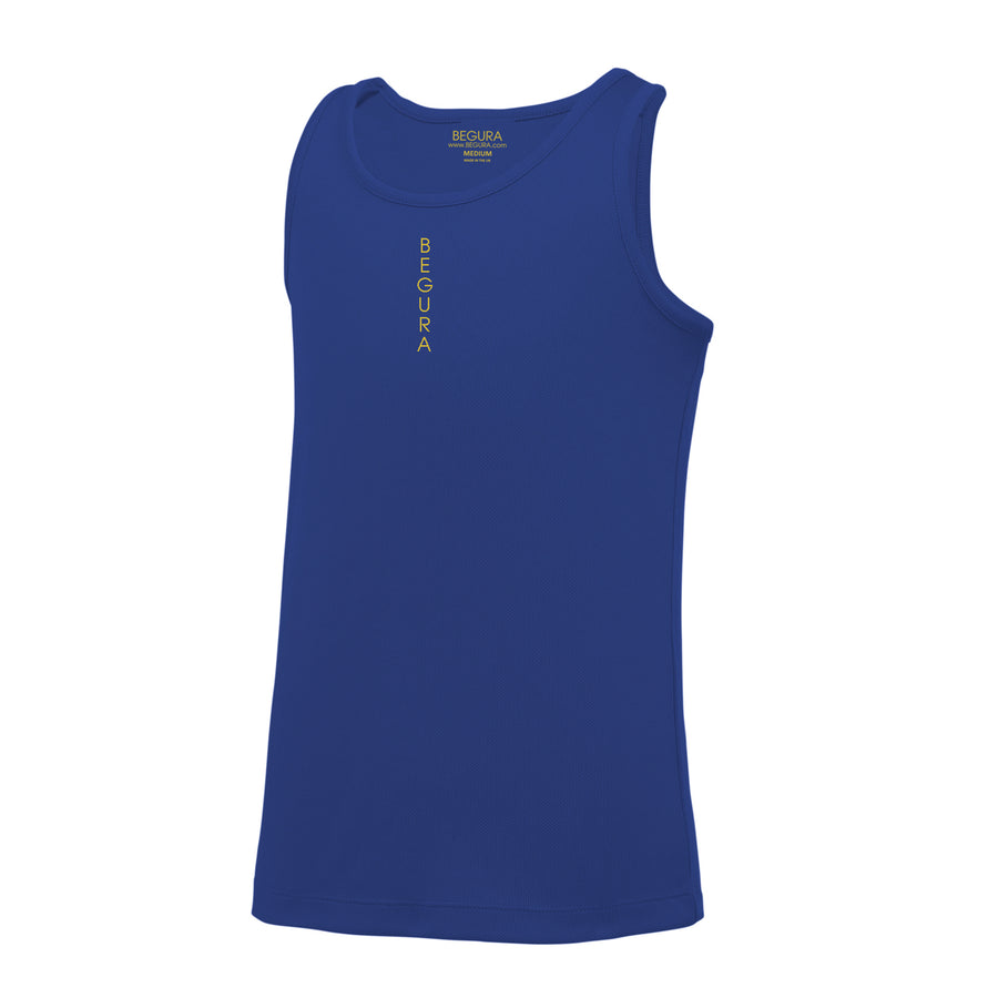 Kids Performance Vertical Royal Blue Vest Top - BEGURA