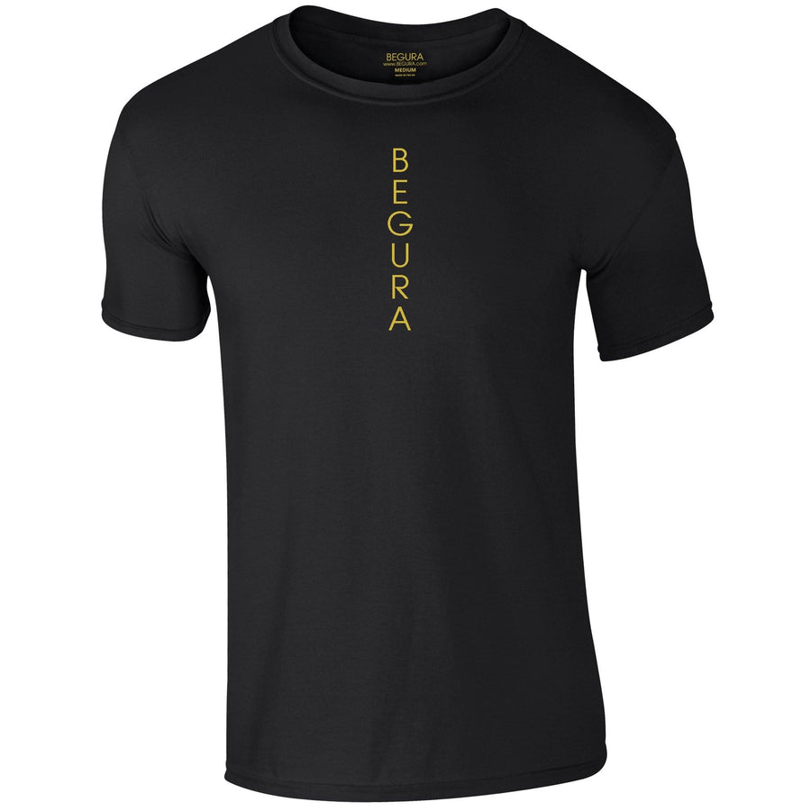 Vertical Black T-Shirt - BEGURA