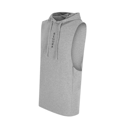 Begura Grey Sleeveless Muscle Hoodie - BEGURA