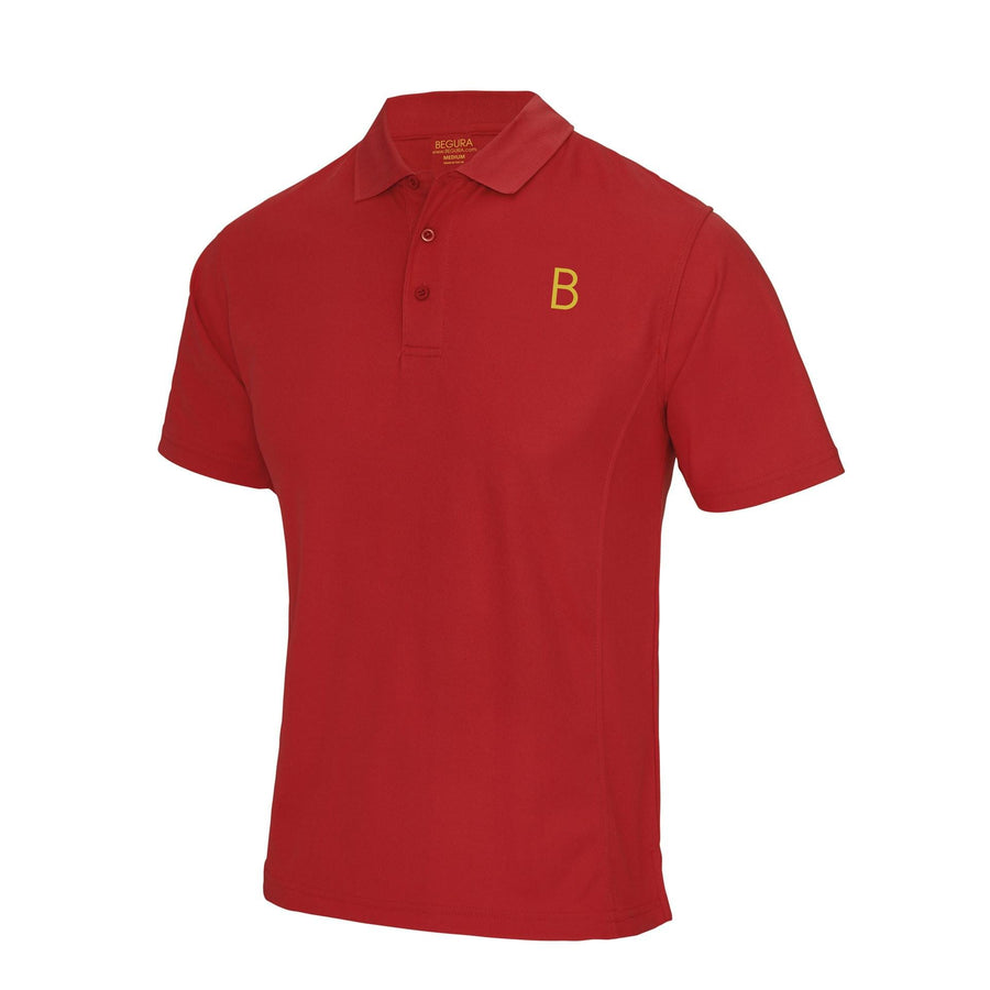 Performance Sports Red Polo - BEGURA