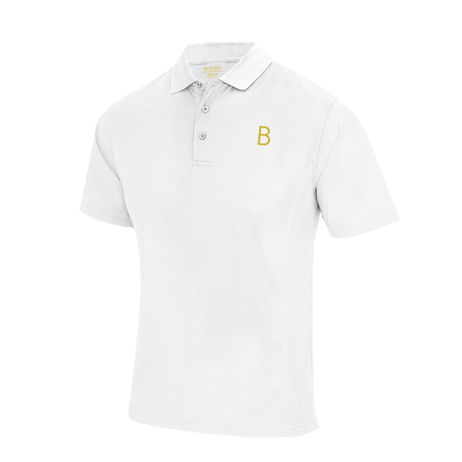 Performance Sports White Polo - BEGURA