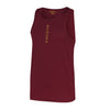 Performance Vertical Burgundy Vest Top - BEGURA