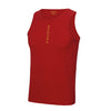 Performance Vertical Fire Red Vest Top - BEGURA