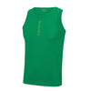 Performance Vertical Green Vest Top - BEGURA