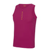 Performance Vertical Hot Pink Vest Top - BEGURA