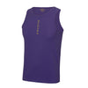 Performance Vertical Purple Vest Top - BEGURA