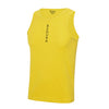 Performance Vertical Yellow Vest Top - BEGURA