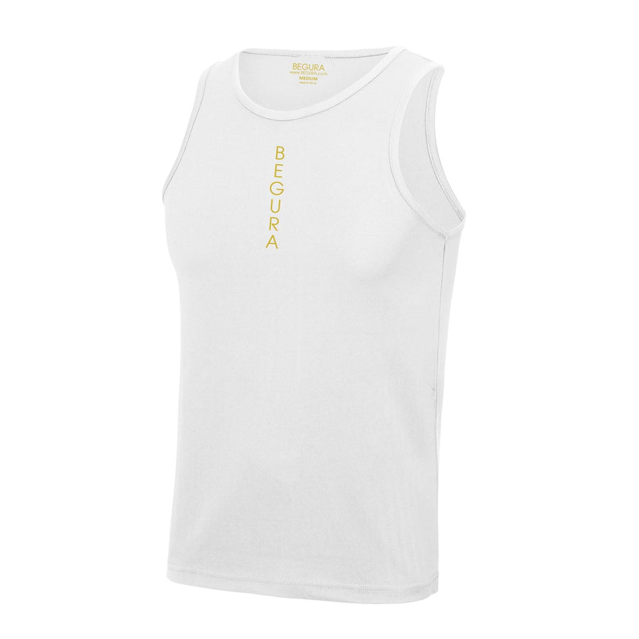 Performance Vertical White Vest Top - BEGURA