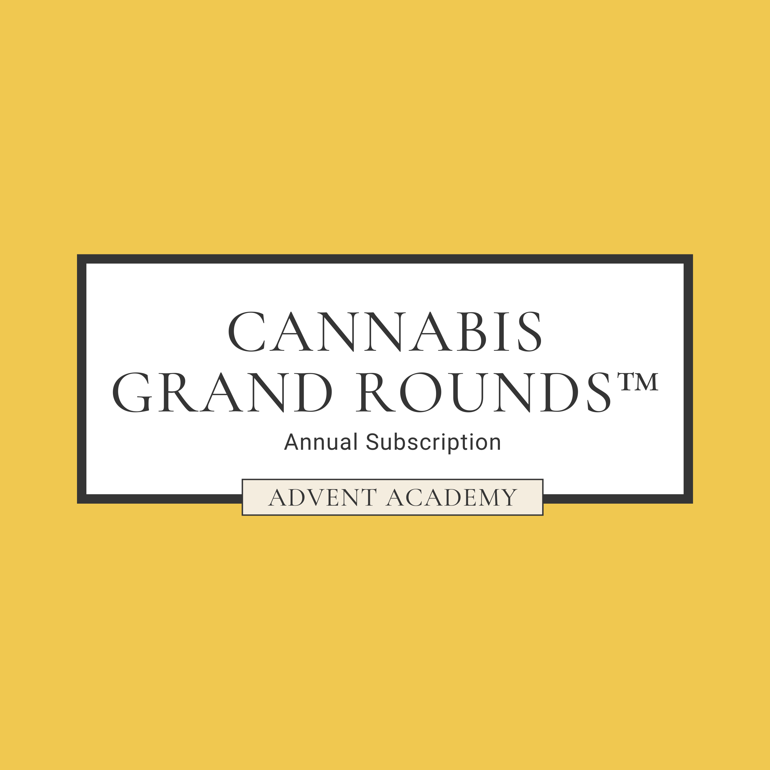 Annual Subscription to Cannabis Grand Rounds