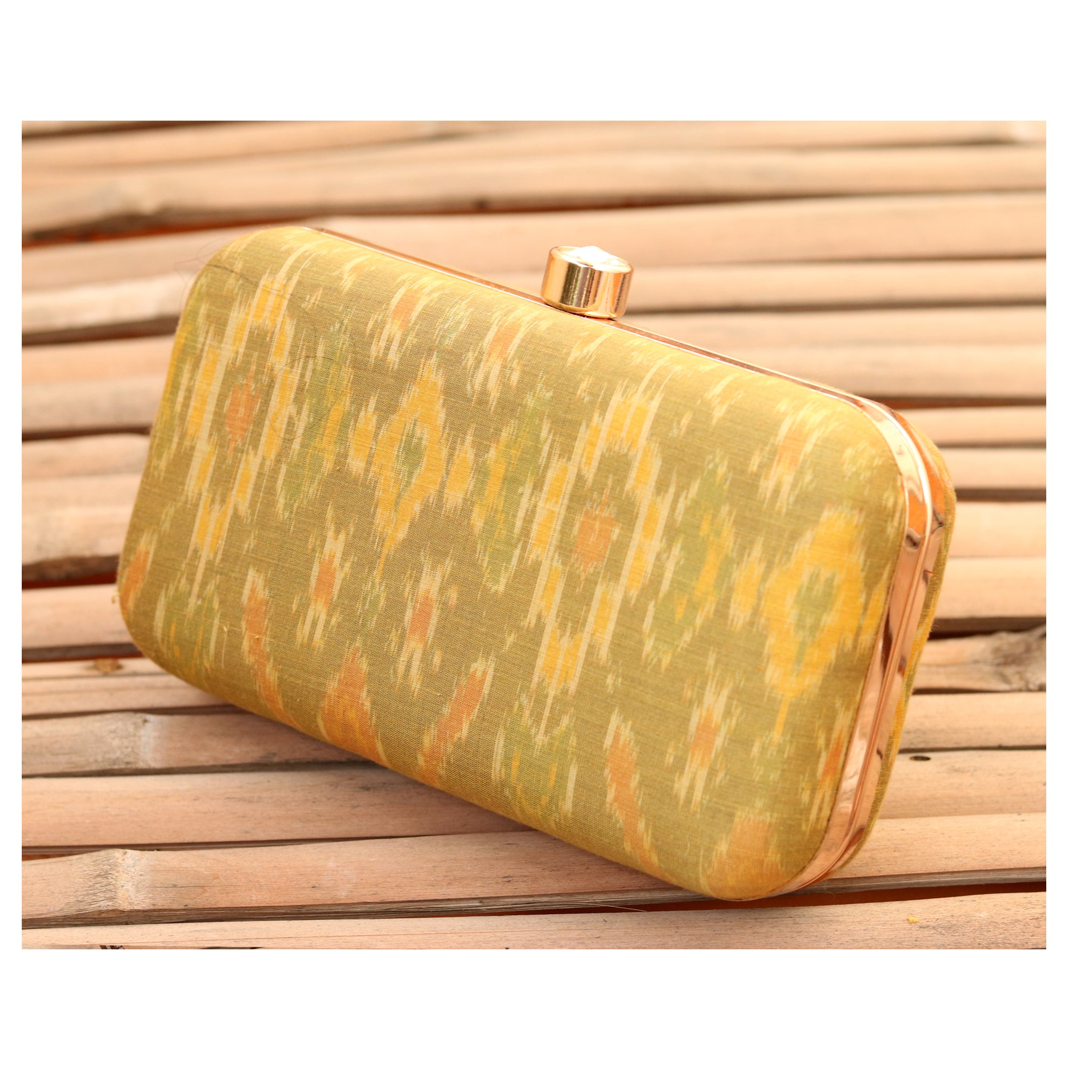 Silk Ikkat Clutch- 3