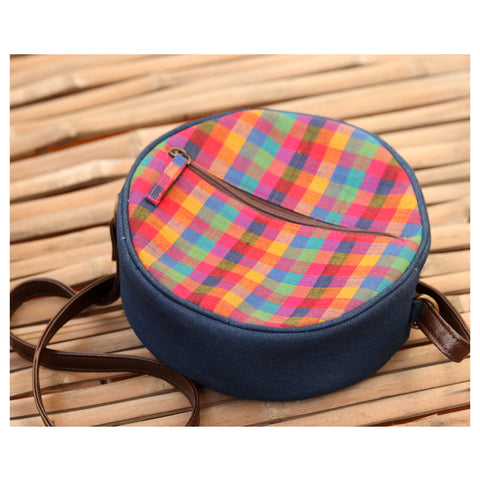 Round Madras Checks Sling