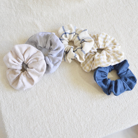 100% cotton scrunchie