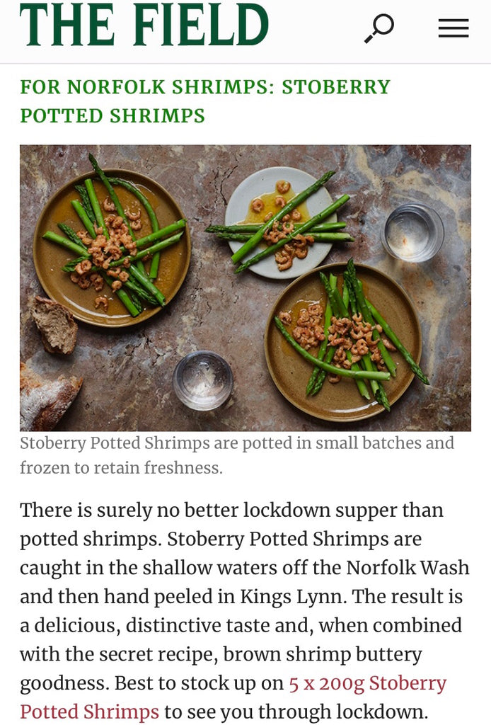 The Field features Stoberry Potted Shrimps