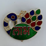 Peacock Shubh Labh, Lakshmi Feet and Swastik