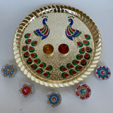 Indian Peacock puja thali